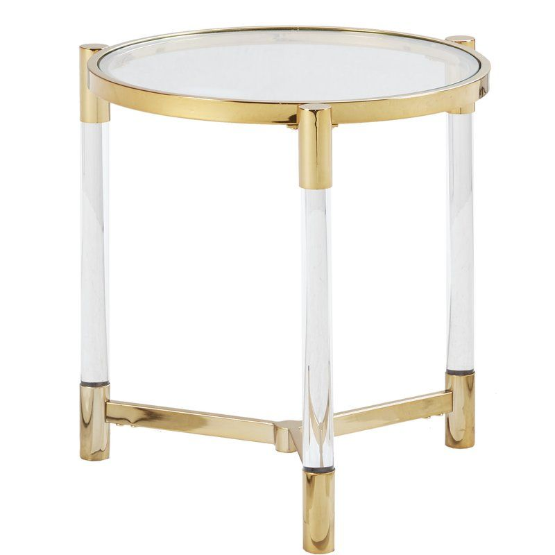Chingford End Table Tempered Glass Table Top Glass End Tables