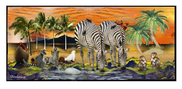 """""""Animal Sanctuary"""" by sheelanagig1313 ❤ liked on Polyvore"""
