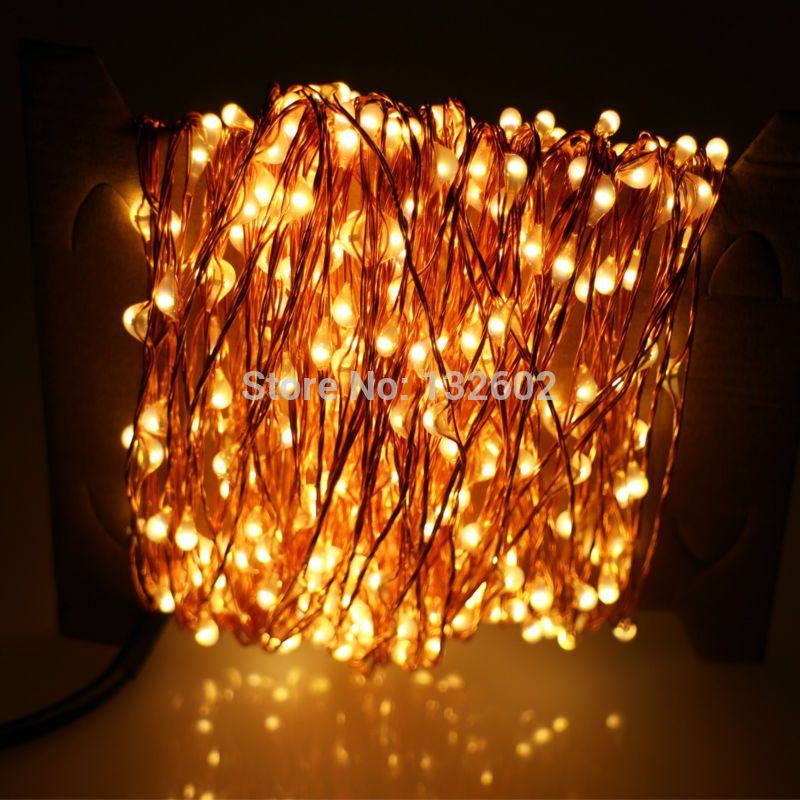 30m 300 LED Outdoor Christmas Fairy Lights Warm White Copper Wire
