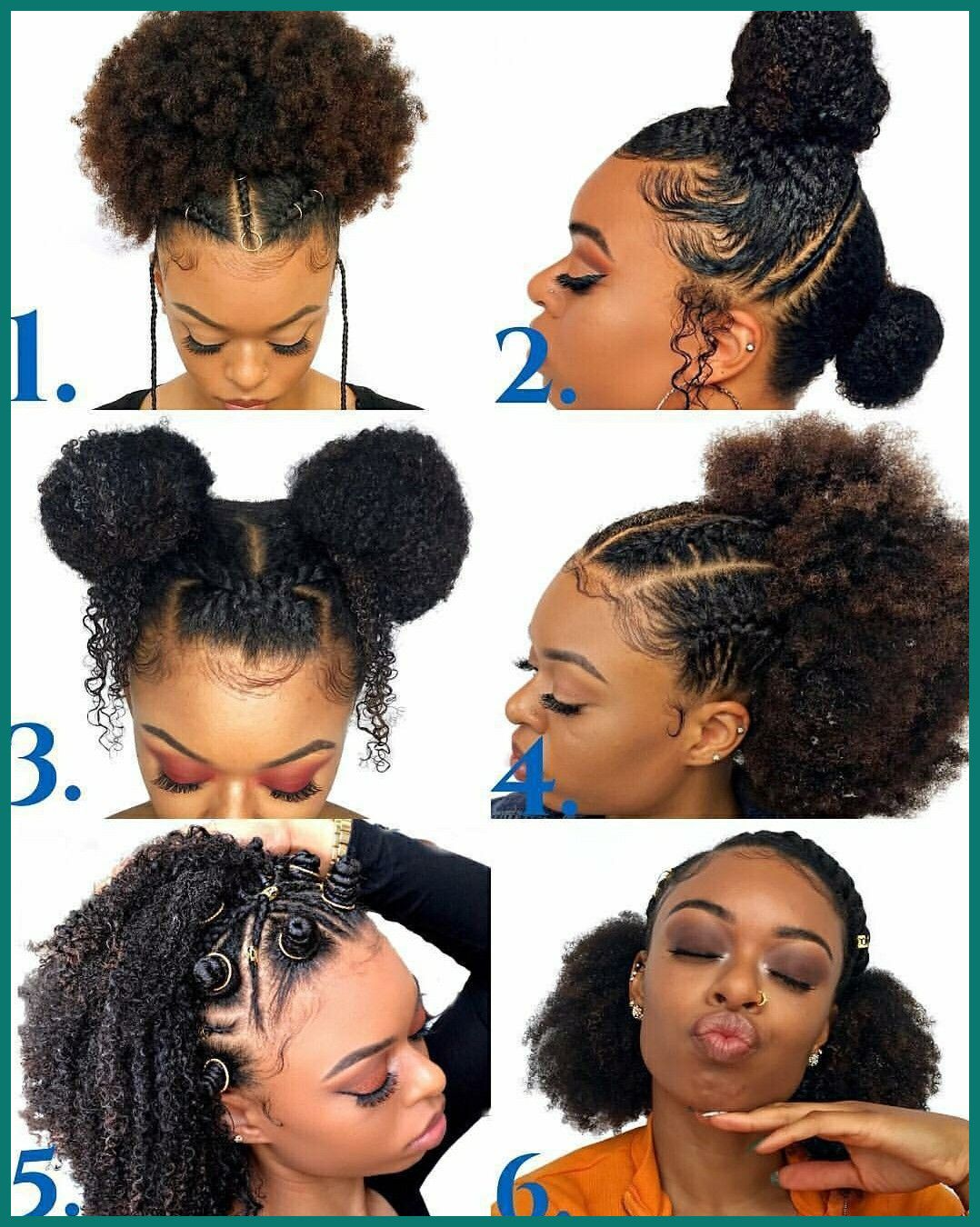 Cute Easy Hairstyles For Natural Black Hair Brunette Hair Styles Natural Hair Tumblr Natural Hair Styles