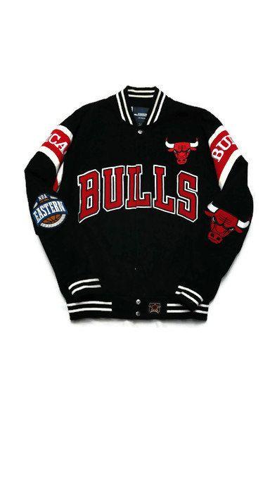 fa09e417c017 Vintage Chicago Bulls Varsity Letterman Jacket Size Medium(Fits like ...