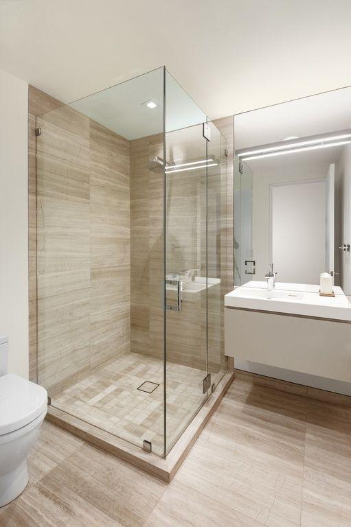 Bathroom. Contemporary 3 4 Bathroom with European Cabinets  Arizona tile