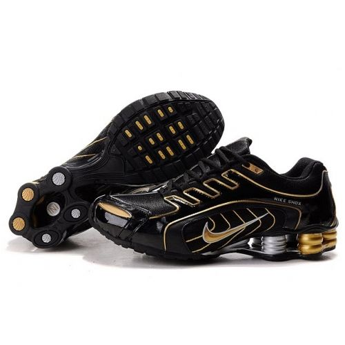 Nike Shox R5 608 Black Gold Men Shoes $79.59