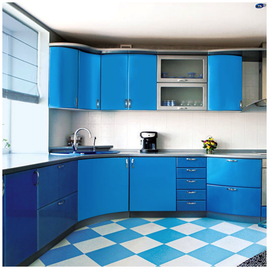 15 inspirational pictures of sky blue kitchens homes with images blue kitchens custom on kitchen cabinets blue id=80850