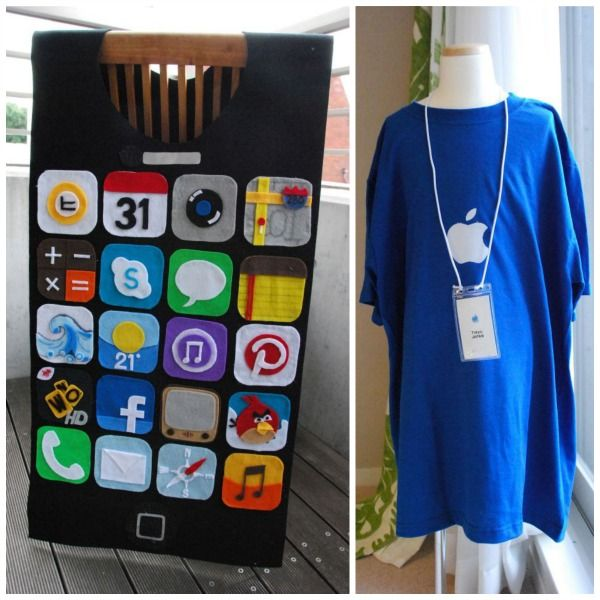 couples iphone and apple genius costume really awesome costumes - Apple Halloween Costumes