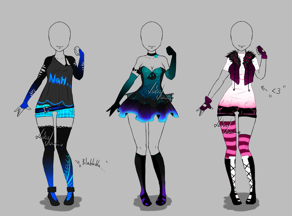 Outfit design , 264 , 266 , closed by LotusLumino on DeviantArt