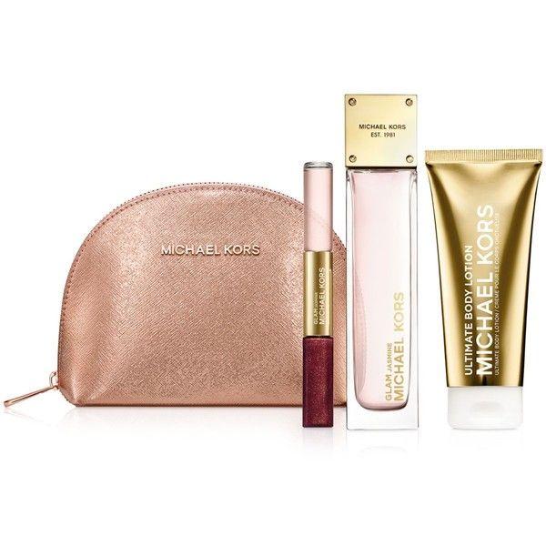 Michael Kors Glam Jasmine Jet Set Travel Gift Set ($110) ? liked on Polyvore