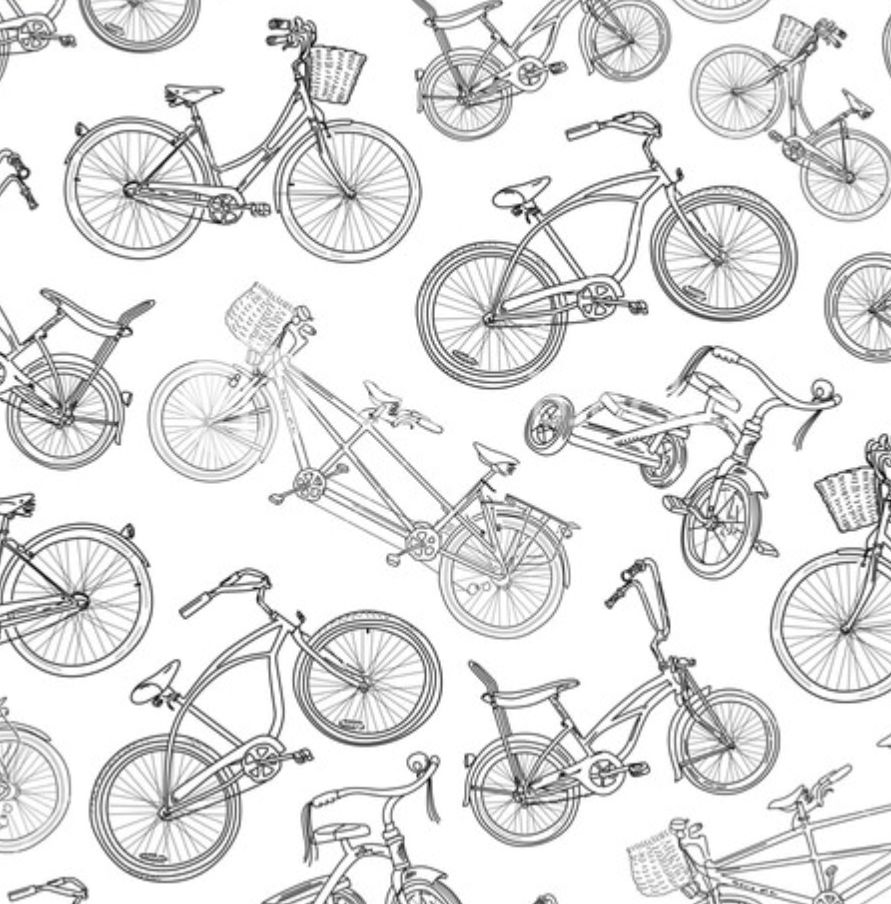 Bike Pattern Doodle Images Bicycle Stock Images Free