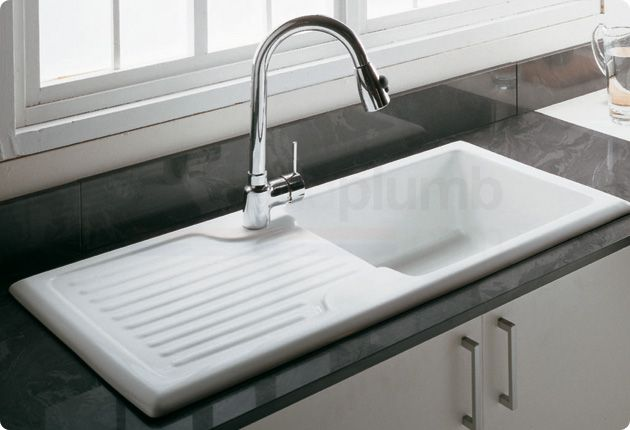 Rak Ceramics Gourmet Kitchen Sink Gosink4v2 1 Bowl White Ceramic Kitchen Sinks White Ceramic Kitchen Sink Ceramic Kitchen