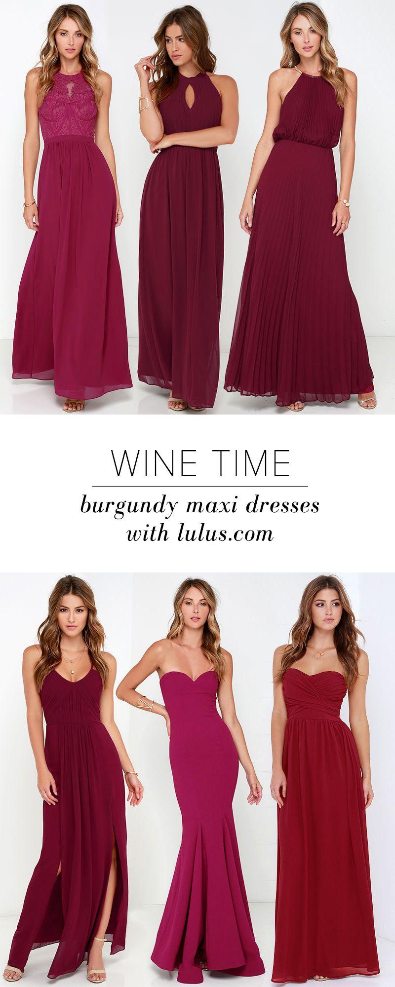 Bariano Melissa Burgundy Maxi Dress   Kleider, Abschlussballkleider ...