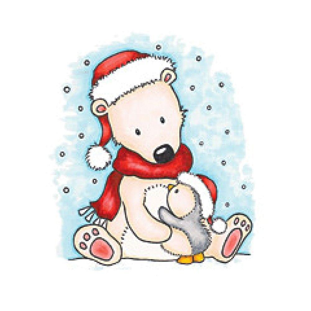 Polar Bear | WILD ROSE STUDIO | Christmas clipart, Santa ...