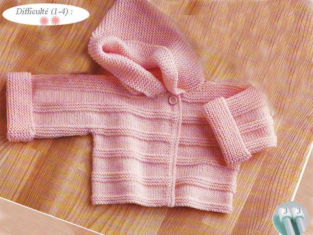 patron pour layette tricot gratuit