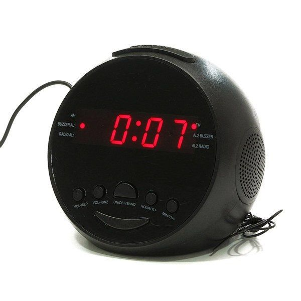 VST-909 LED Display Digital AM/FM Radio Alarm Clock With Buzzer Snooze Function
