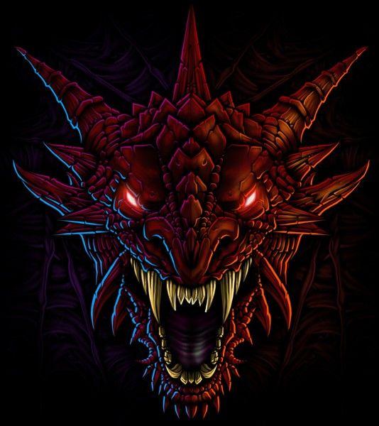 Лицо дракона картинки