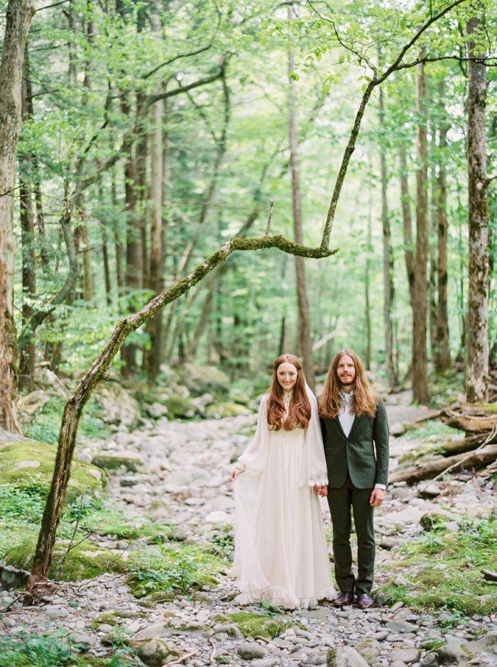 A Bride In Vintage 70s and her groom | fabmood.com