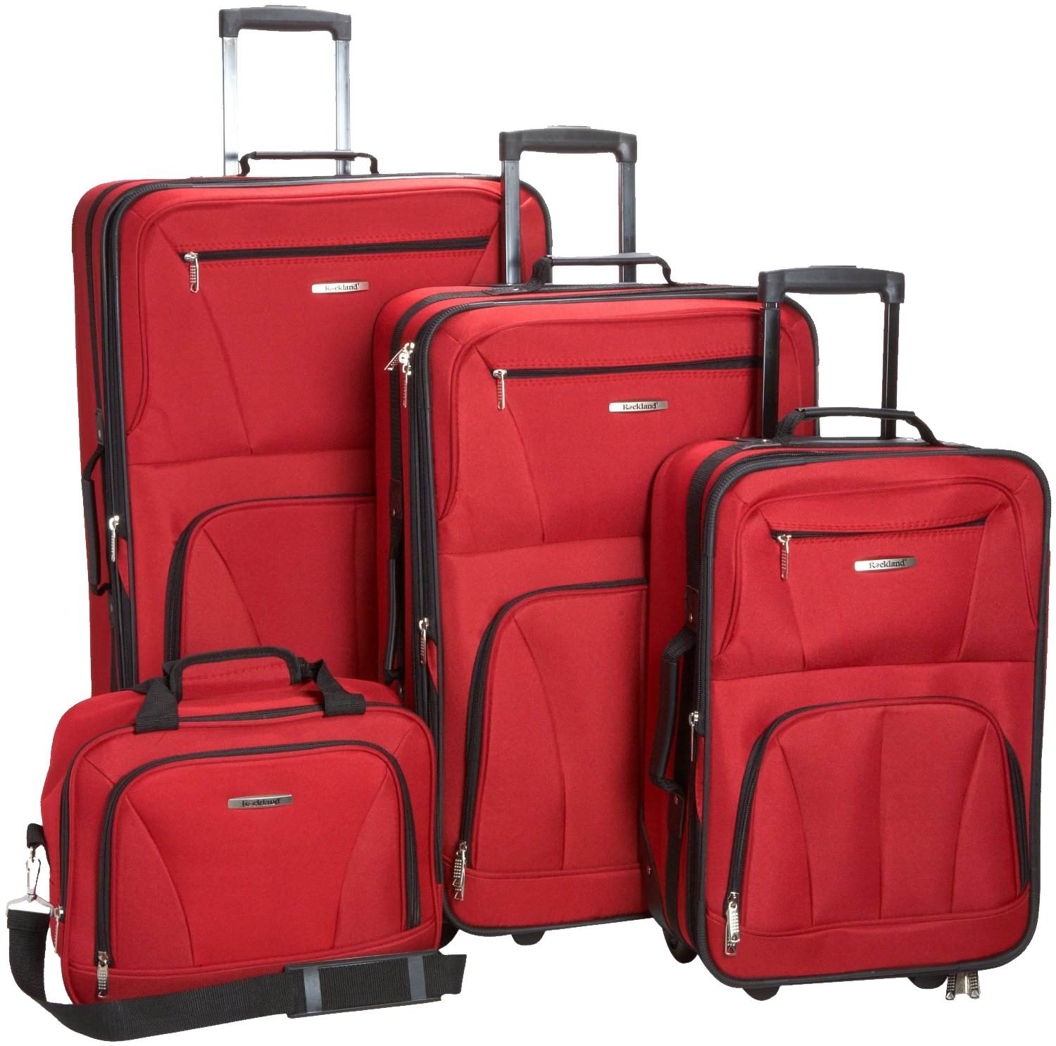 Four Suitcase Png Image Rockland Luggage Luggage Sets Overnight Travel Bag