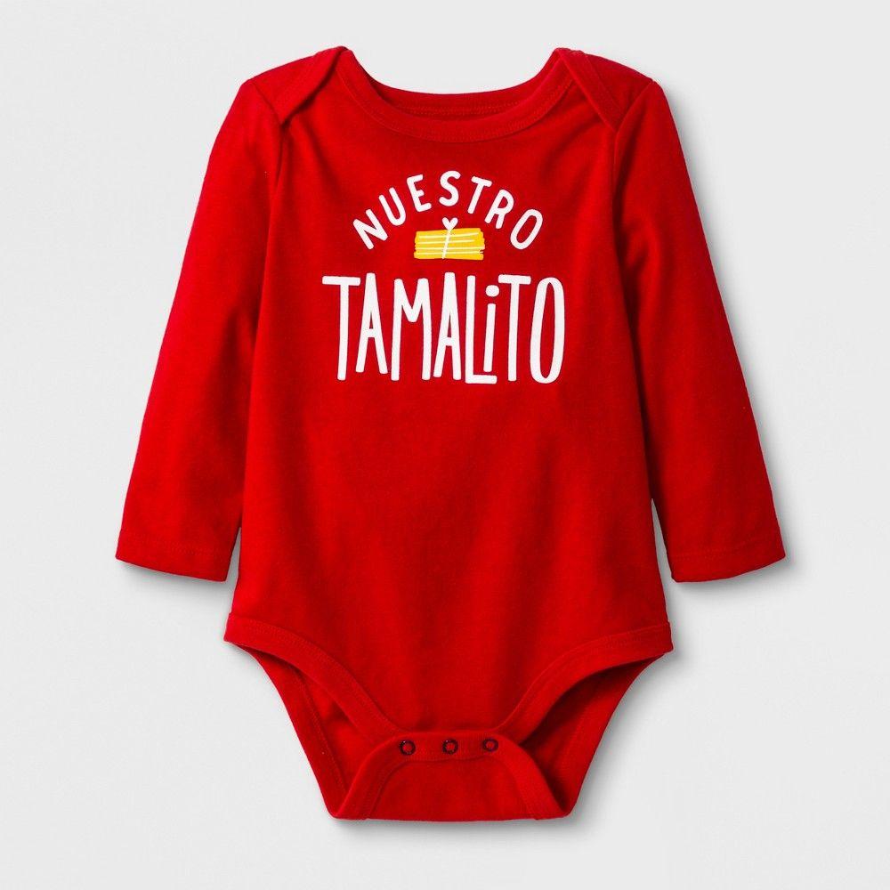 Vintage red paw Print Halloween Baby Girl Bodysuit Organic Cotton Long Sleeve Cute