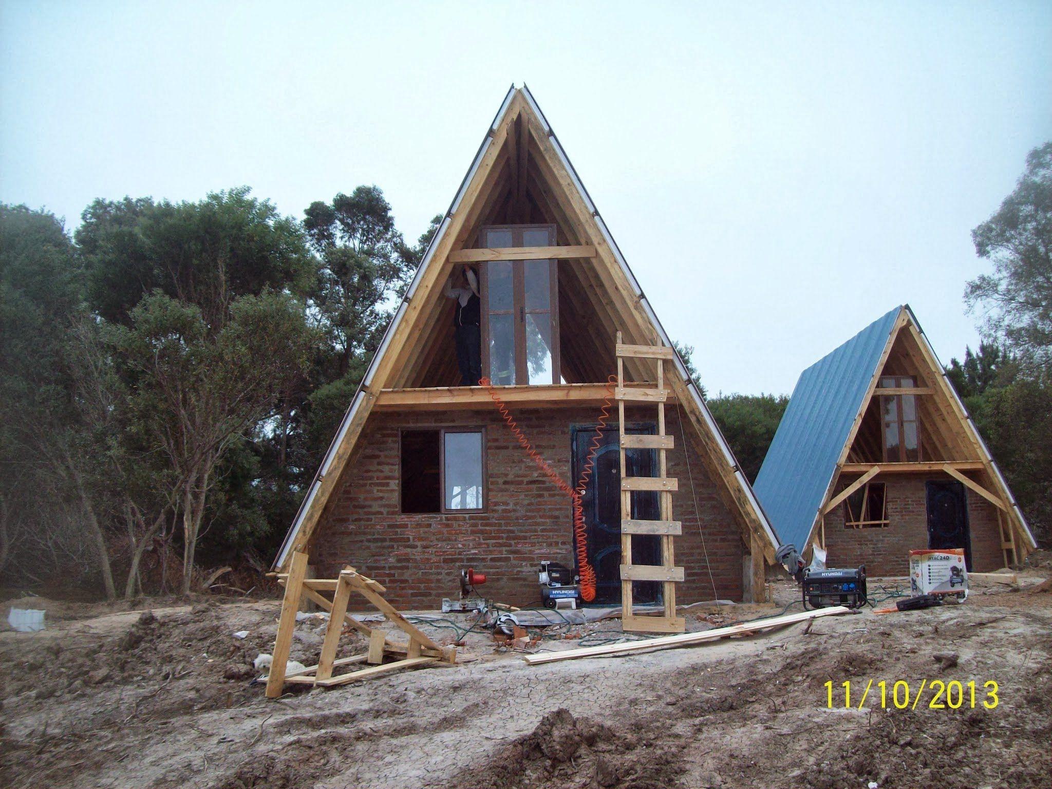Caba a alpina madera tronco ladrillos economica arquitetura e constru o pinterest - Cabanas de madera economicas ...