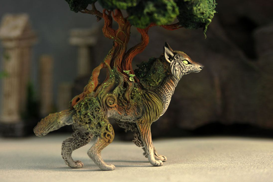 Tree wolf by hontor.deviantart.com on @DeviantArt