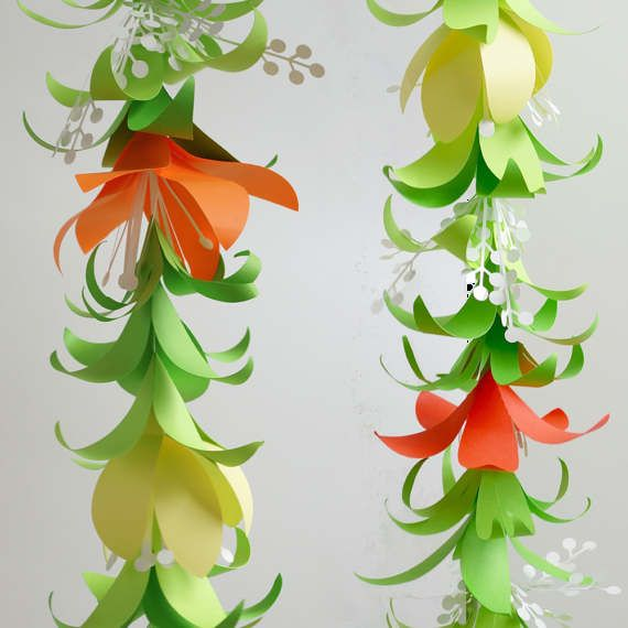 Flower Garland DIY Templates for Silhouette, Cricut Explore or Hand ...