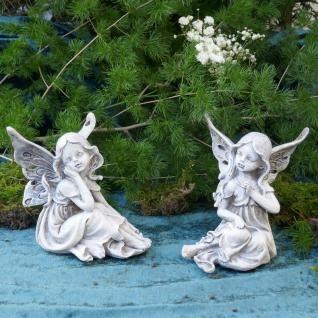 Fee Sitzend 2 Modelle Elfe Elfenkind Garten Figur Gartenfigur Feen