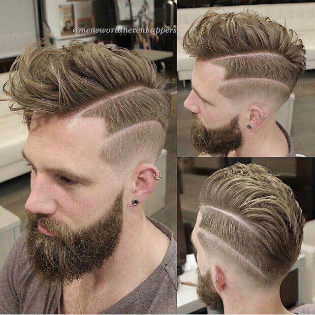 Taglio capelli uomo con riga rasata