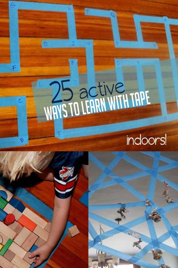 5 Different Activities For 6 Lines Of Tape Ot