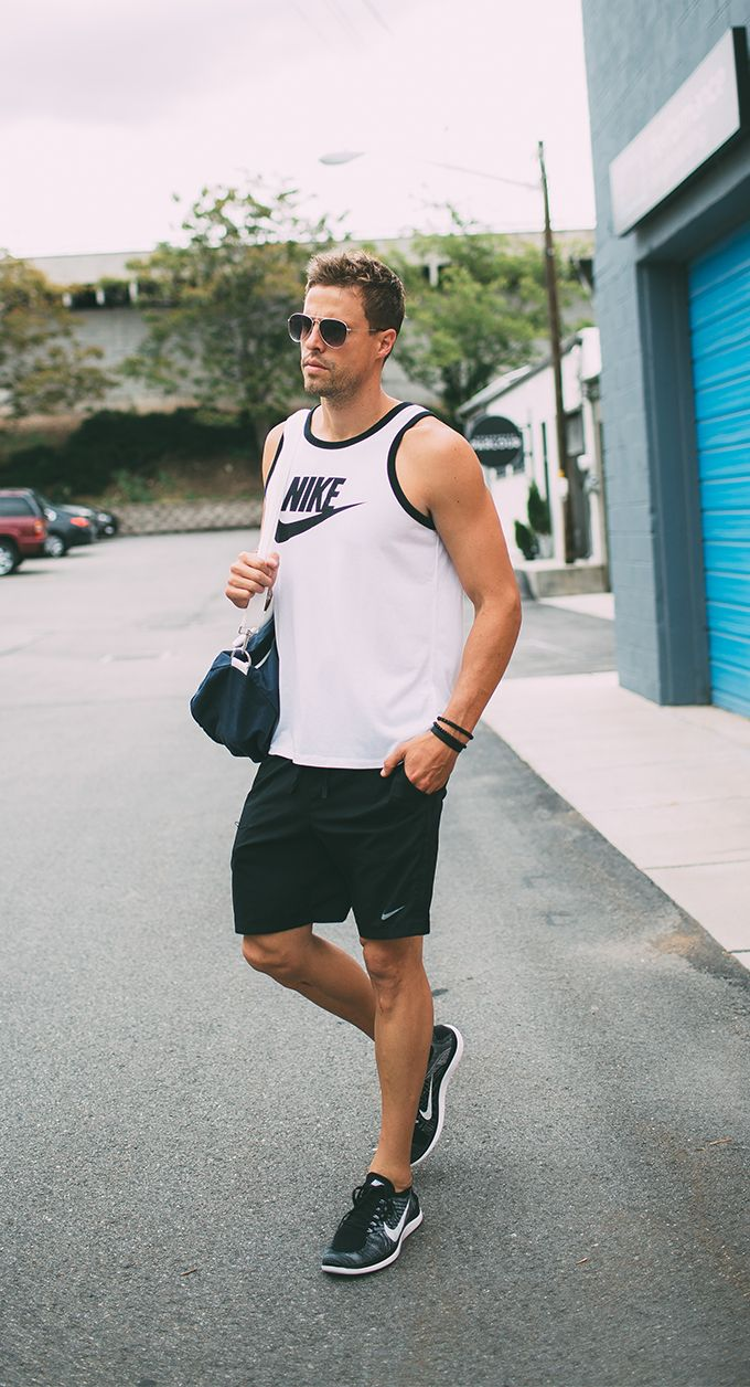 nike shorts outfit mens