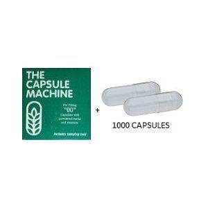 Capsule Filler Kit + 1000 Gelatin Capsules - Capsule Machine Size '00'