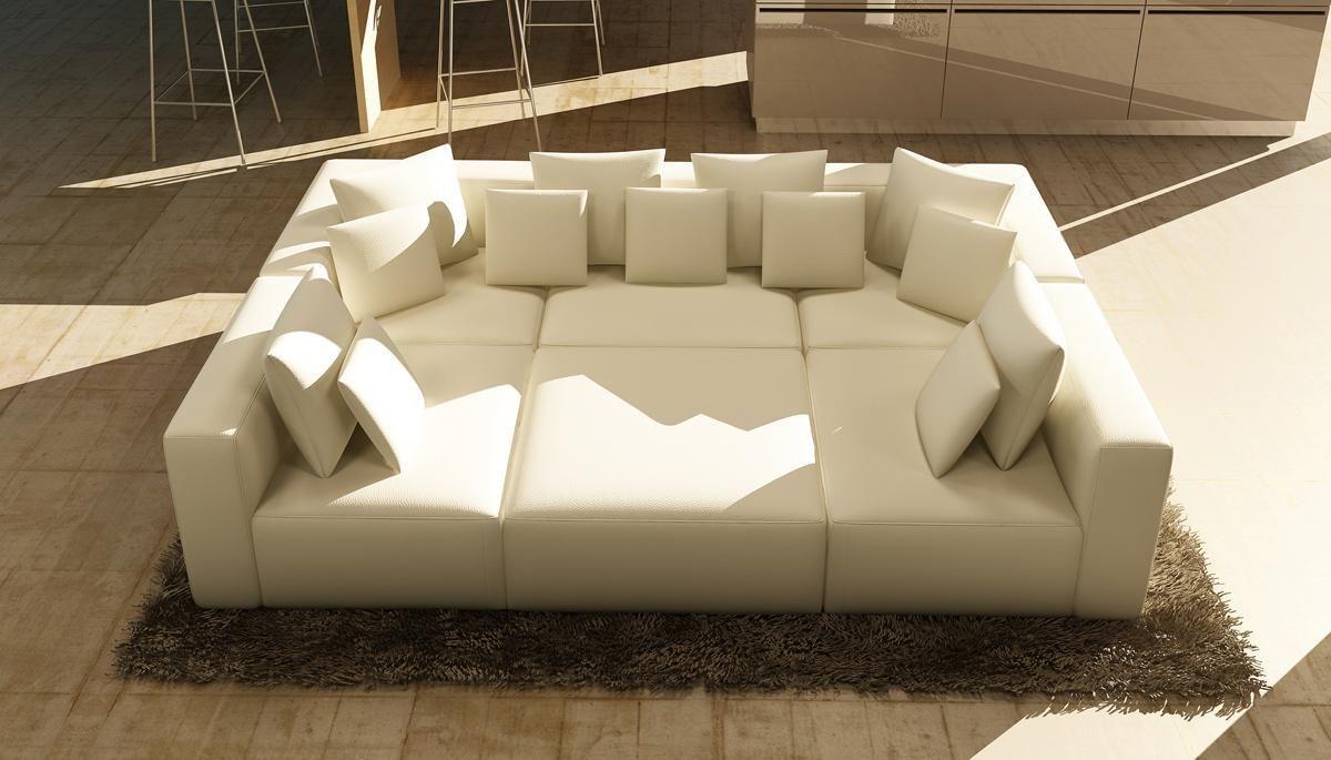Divani Casa 206 Modern White Bonded Leather Sectional Sofa ...
