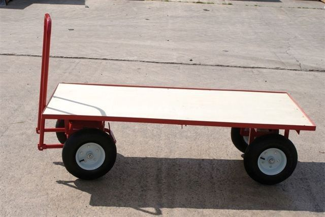 Earlswood four wheel Trolley Highly manoeuvrable four wheeled trolley also has a strong steel frame with a timber deck perfect for heavy items and