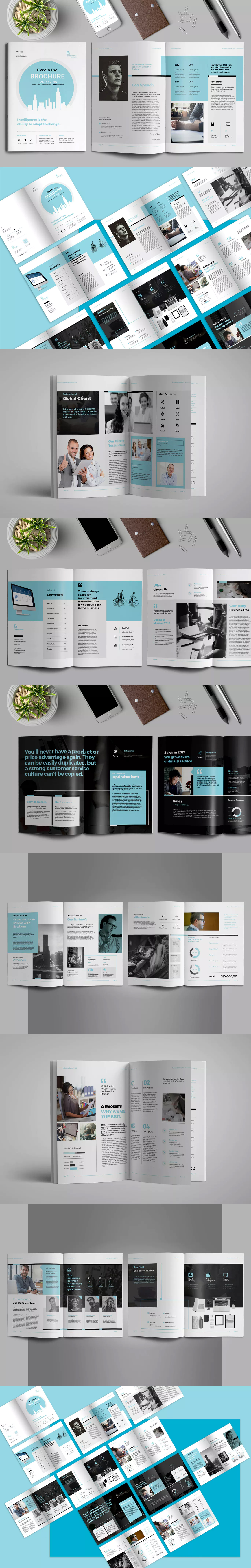 Brochure Template InDesign INDD - A4 and US Letter Size | Brochure ...