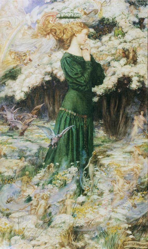 Eleanor Fortescue Brickdale è famosa per i suoi dipinti raffiguranti scene romantiche o leggendarie in