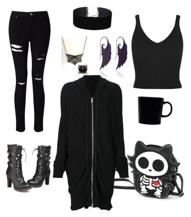 """Comfy Creepy"" by eliryana-tamwyn ❤ liked on Polyvore featuring Unravel, Miss Selfridge, Noor Fares and iittala"