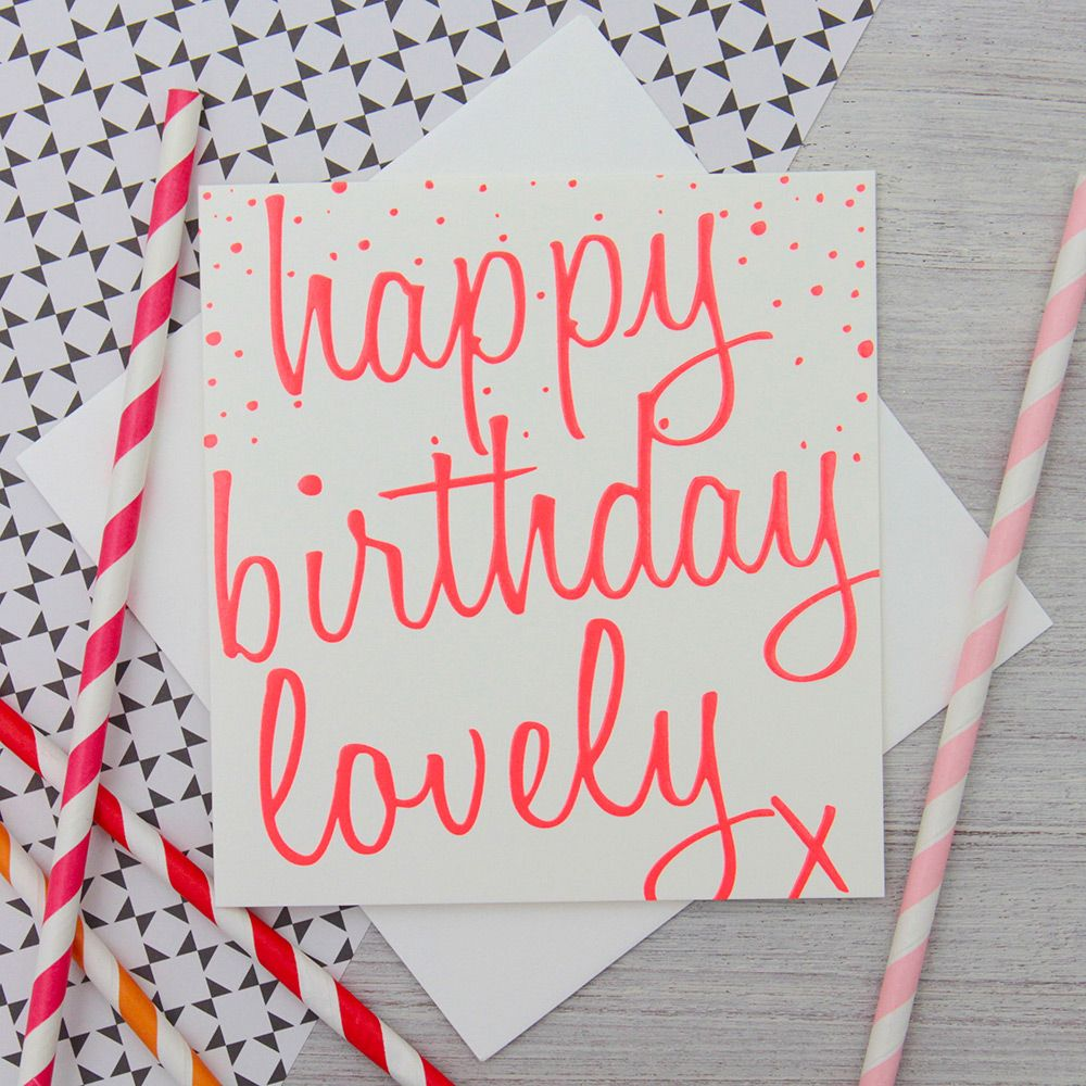 Caroline Gardner Neon Pink Card Cards And Wrap And Gifting