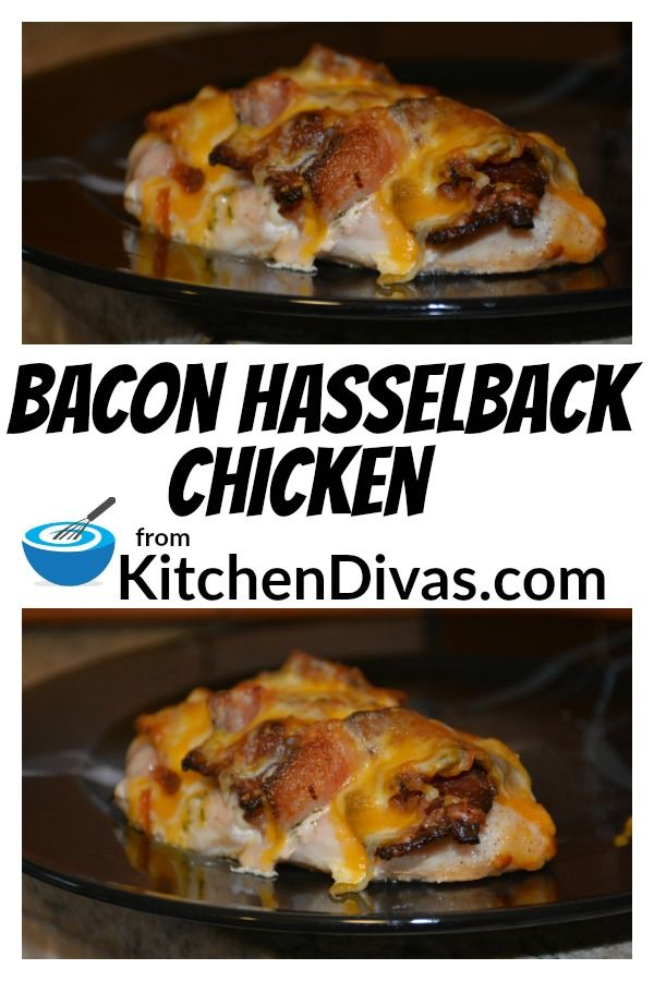 Easy Bacon Hasselback Chicken #hasselbackchicken