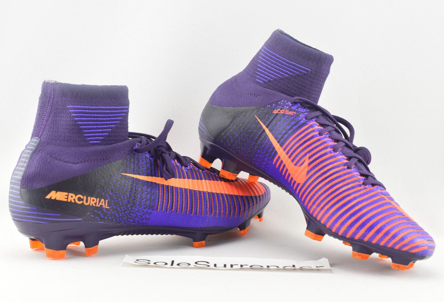 401b99809a8d Nike Mercurial Superfly V FG -CHOOSE SIZE- 831940-585 Spikes Boots Black  Orange