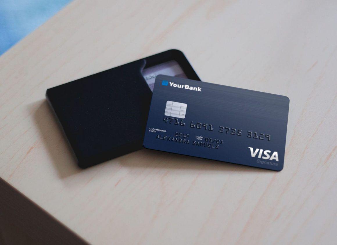 Free Plastic Credit Card Mockup Psd Free Business Card Mockup Credit Card Business Card Mock Up