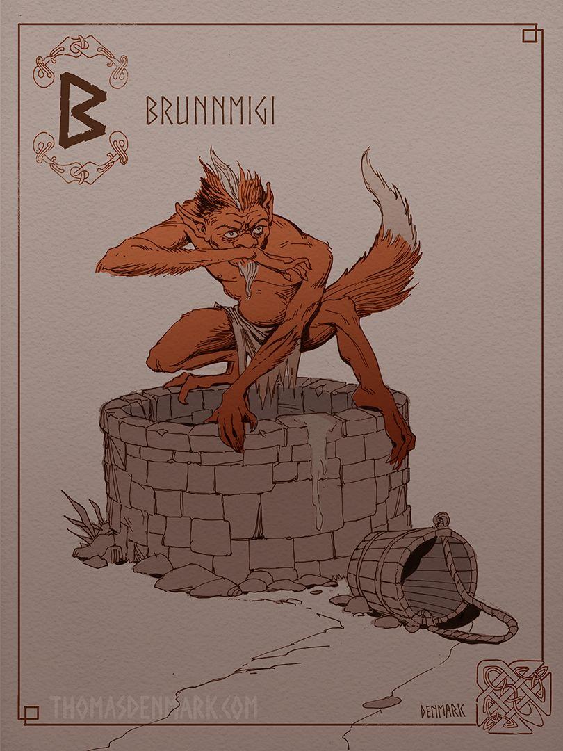 Brunnmigi- In Norse mythology, a Brunnmigi (Old Norse ...