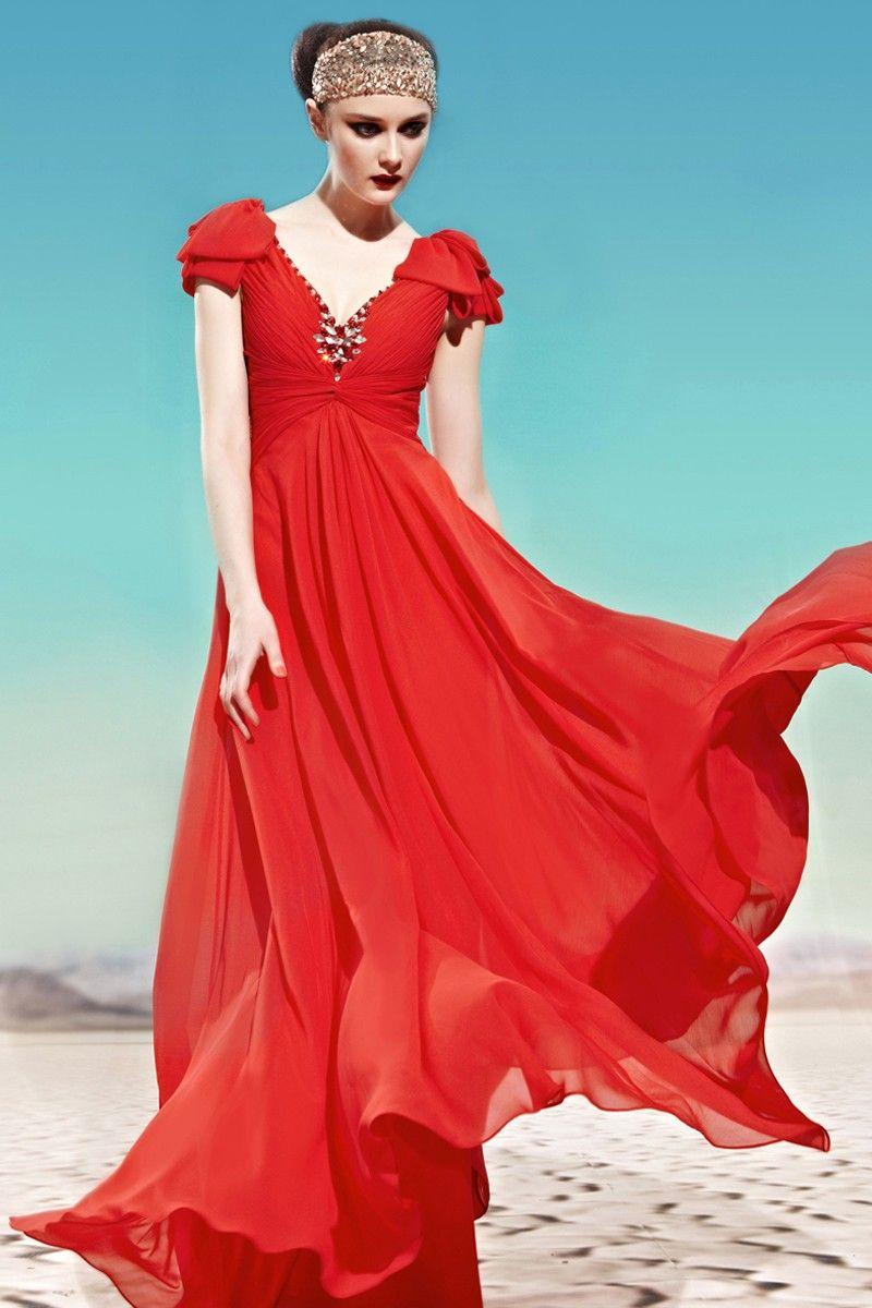 Evening Dress | Event dresses formal, Red evening dress ...
