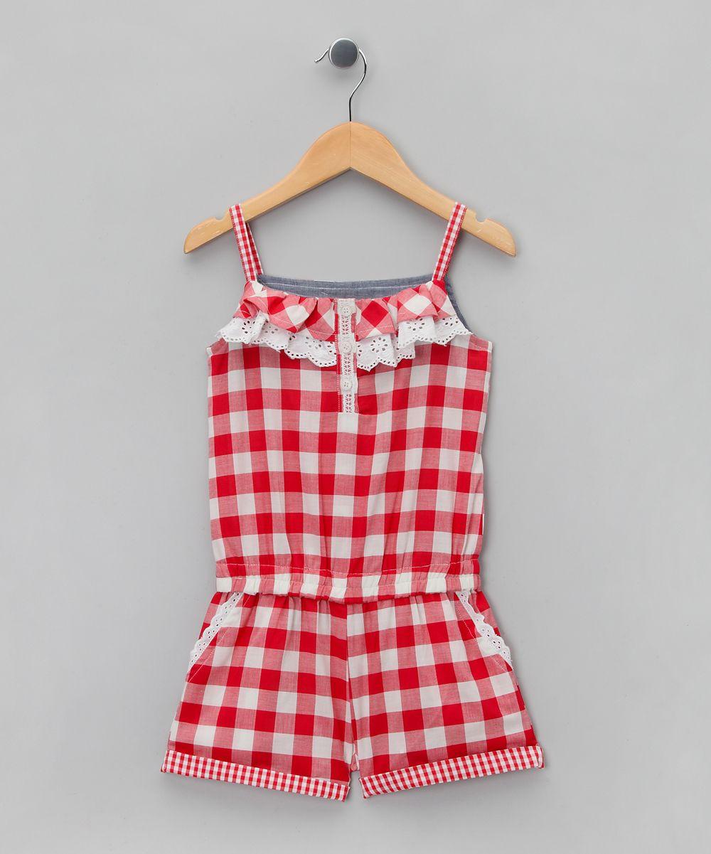 3424e6456e6b Red Gingham Ruffle Romper - Toddler   Girls
