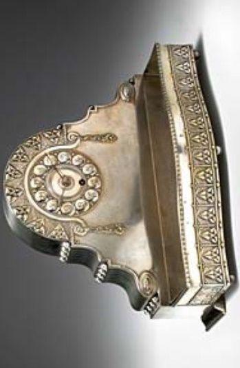 Kaminuhr Mit Jardiniere Margold Emanuel J Wolkenstein Gluckselig Wien Glass Art Silver Bracelet Silver
