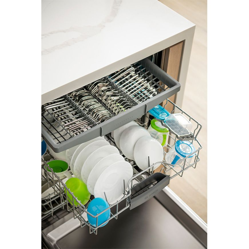 Bosch 500 Series Top Control Tall Tub Bar Handle Dishwasher In Stainless Steel With Stainless Steel Tub Autoair 44dba Shxm65z55n The Home Depot In 2020 Steel Tub Bosch Dishwashers Shoe Rack