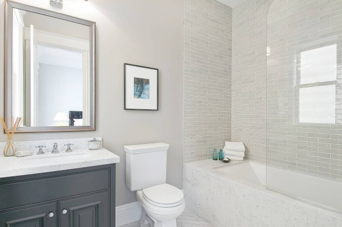 Pin by emily hayes on my bedroom pinterest gray subway tiles subway tile bathrooms bathroom gray small bathrooms gray subway tiles bathroom ideas shower window framed mirrors contemporary toilets dailygadgetfo Gallery