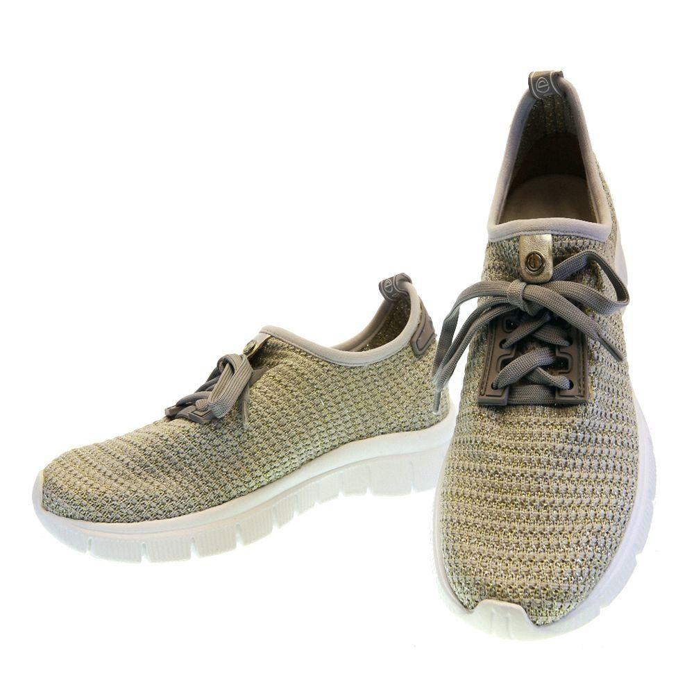6d20e8a4a Tênis Casual Conforto Prata Mesclado 2798 | Casual shoes and Boutique