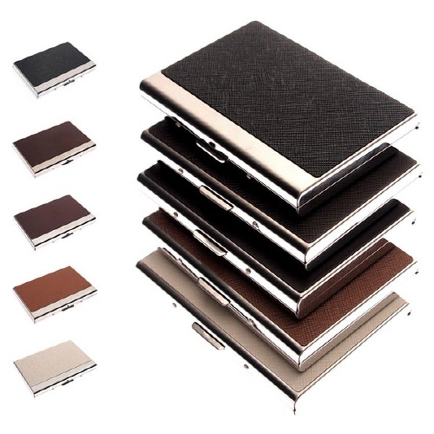 Business Card Holder Personalized Cowhide Briefs Metal Skin Card ...
