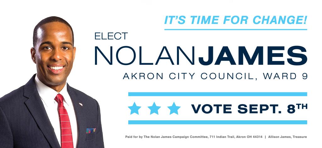 Nolan James For City Council With Images City Council City Northeast Ohio