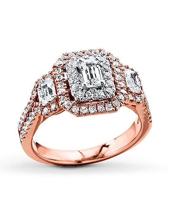 Kay Jewelers engagement ring in rose gold with emerald cut I Style