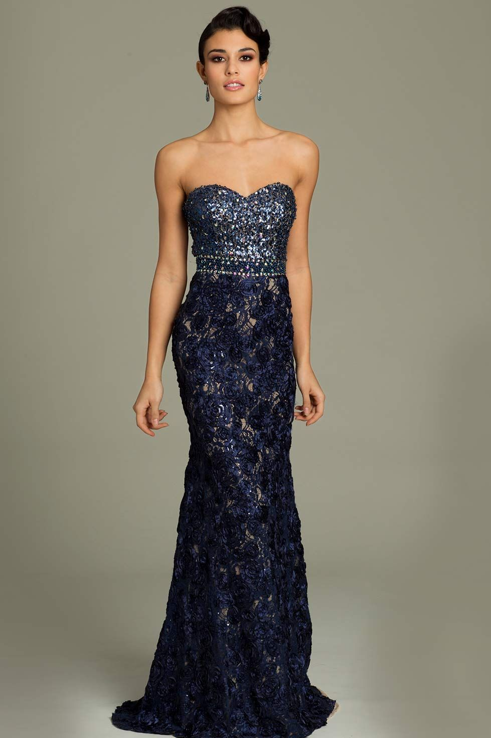 Strapless jovani embellished gown prom pinterest gowns