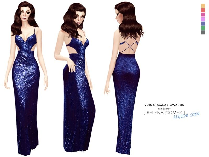 Sequin dress worn by Selena Gomez at the Grammy Awards (2016). 7 ...